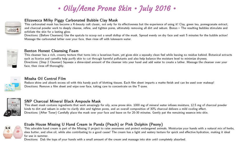 Jini Beauty - Oily/Acne Skin Products (July 2016)