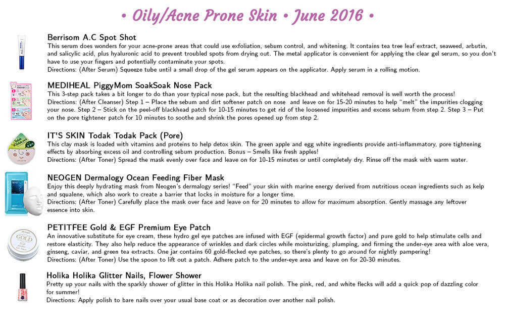 Jini Beauty - Oily/Acne Skin Products (June 2016)
