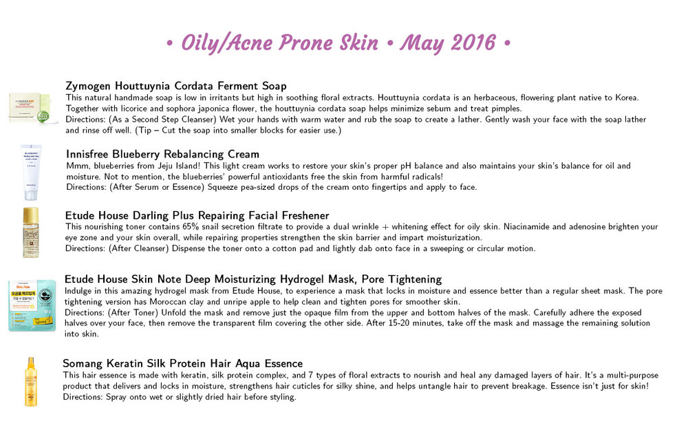 Jini Beauty - Oily/Acne Skin Products (May 2016)