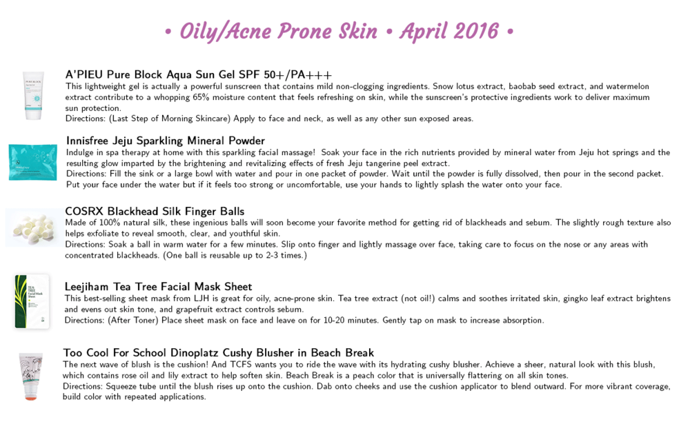 Jini Beauty - Oily/Acne Skin Products (April 2016)