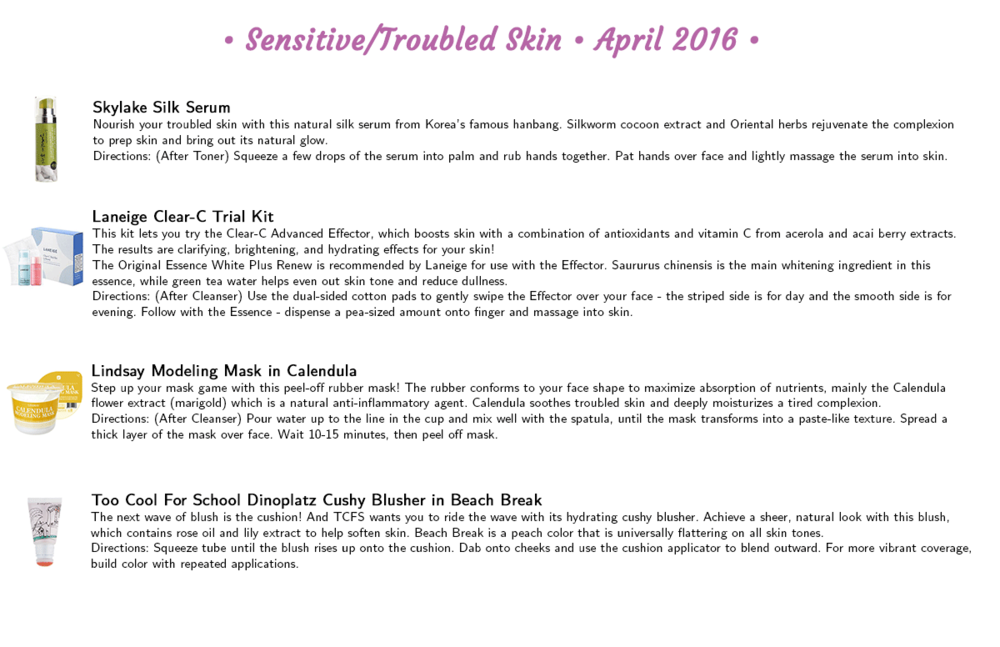 Jini Beauty - Sensitive/Troubled Skin Products (April 2016)