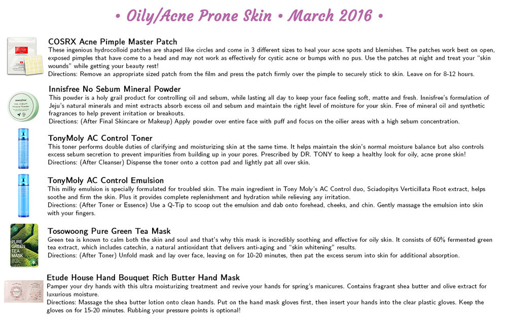 Jini Beauty - Oily/Acne Skin Products (March 2016)