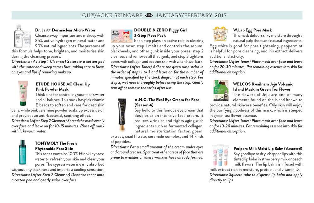 Jini Beauty - Oily/Acne Skincare Products (January/February 2017)