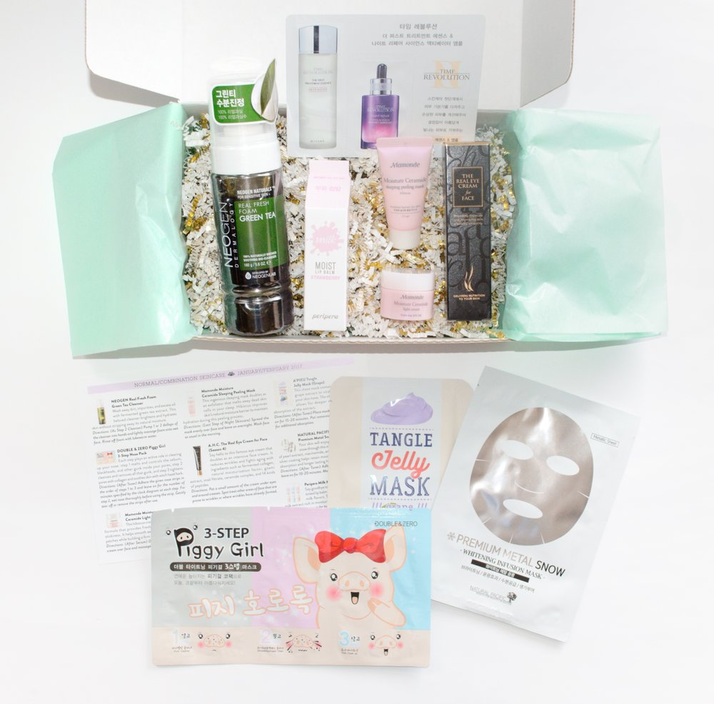 Jini Beauty Box - January/February 2017 - Normal/Combination Skin