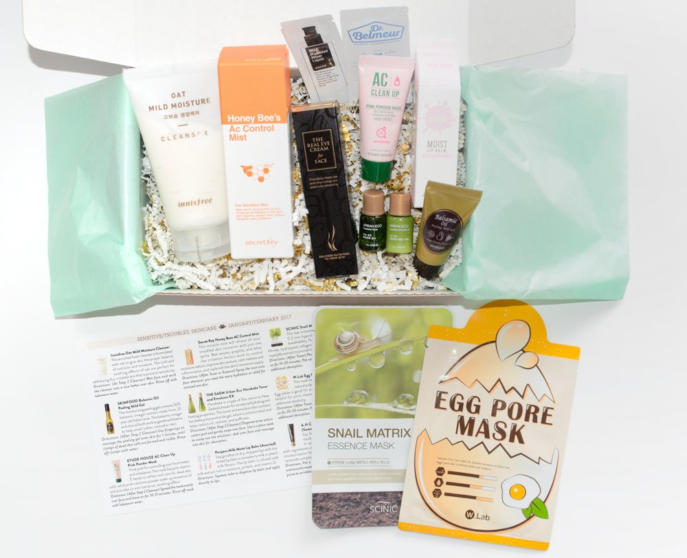 Jini Beauty Box - January/February 2017 - Sensitive/Troubled Skin