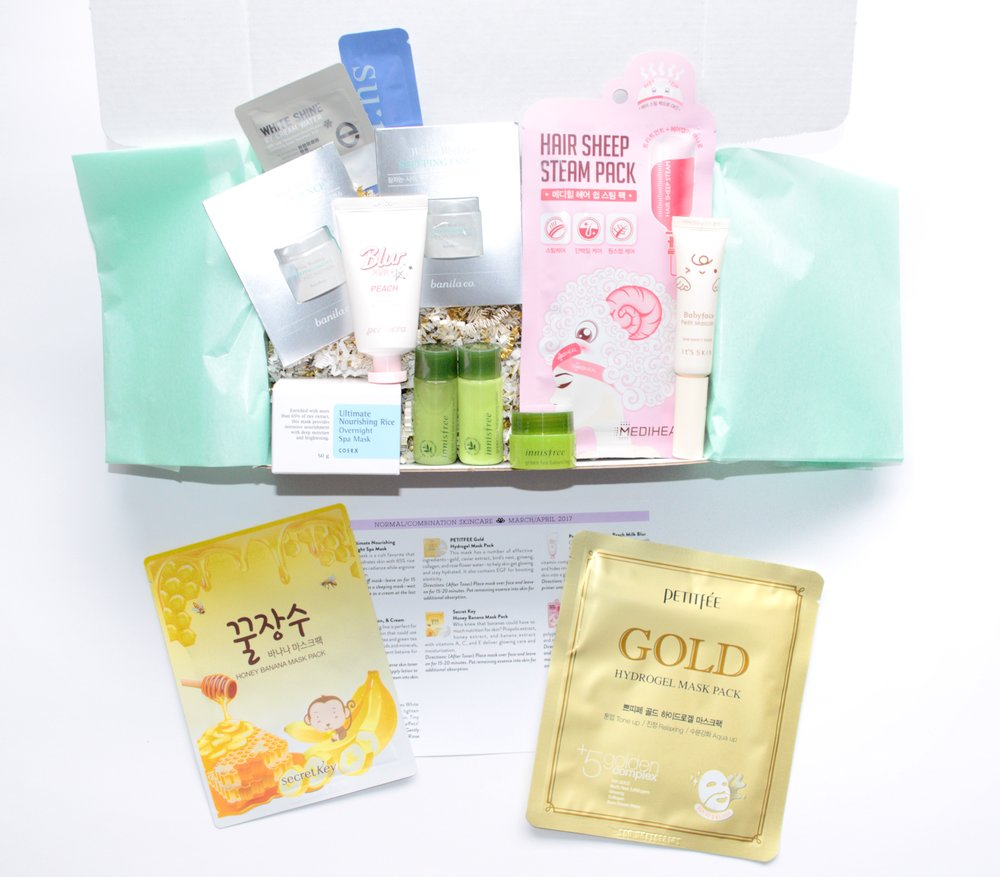 Jini Beauty Box - March/April 2017 - Normal/Combination Skin