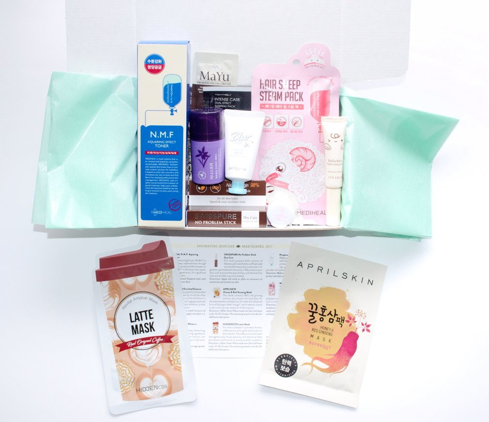 Jini Beauty Box - March/April 2017 - Dry/Mature Skin