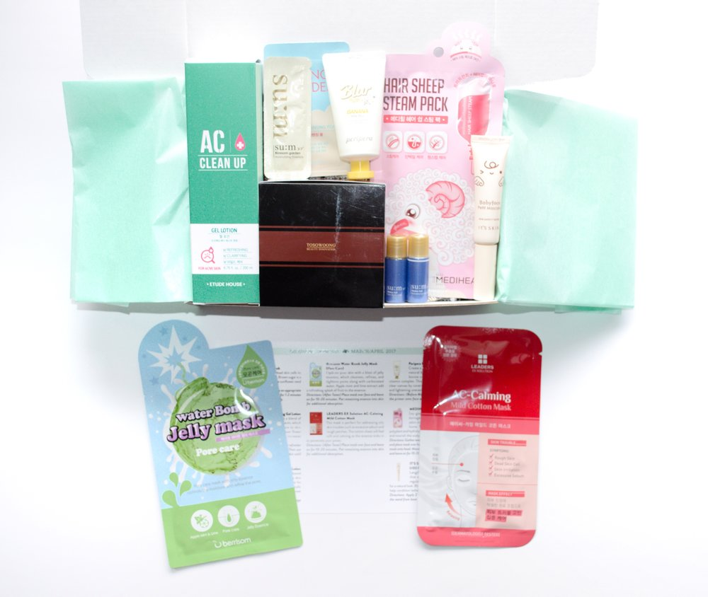 Jini Beauty Box - March/April 2017 - Oily/Acne Skin