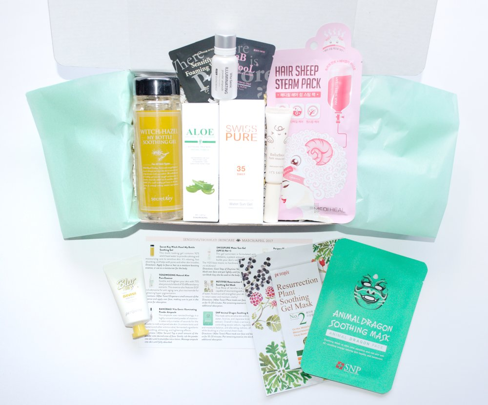 Jini Beauty Box - March/April 2017 - Sensitive/Troubled Skin