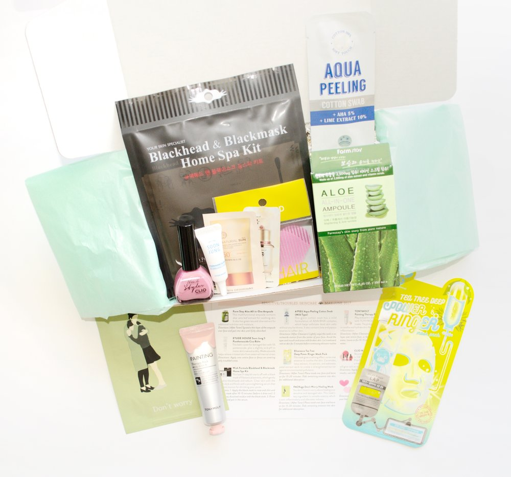 Jini Beauty Box - May/June 2017 - Sensitive/Troubled Skin