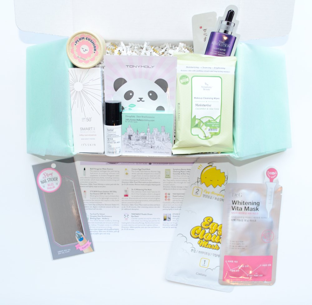 Jini Beauty Box - July/August 2017 - Normal/Combination Skin
