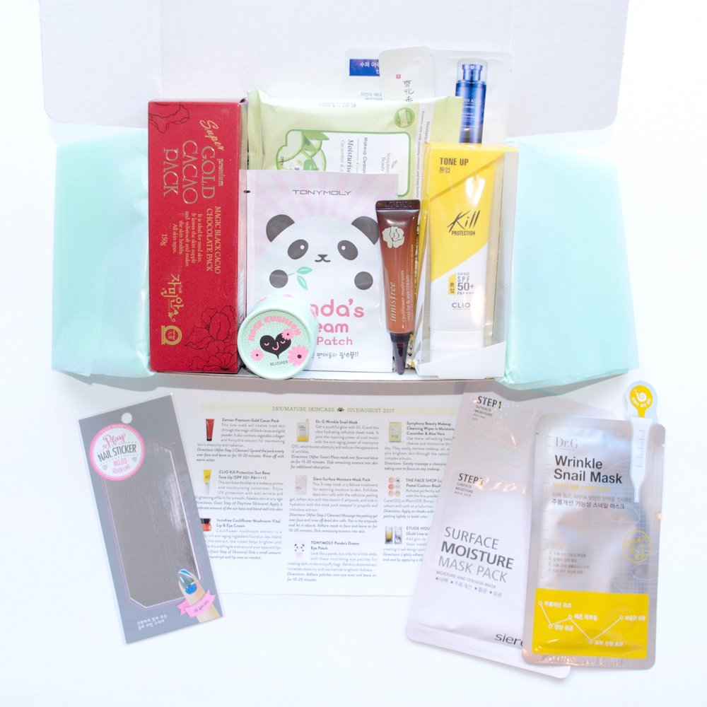 Jini Beauty Box - July/August 2017 - Dry/Mature Skin