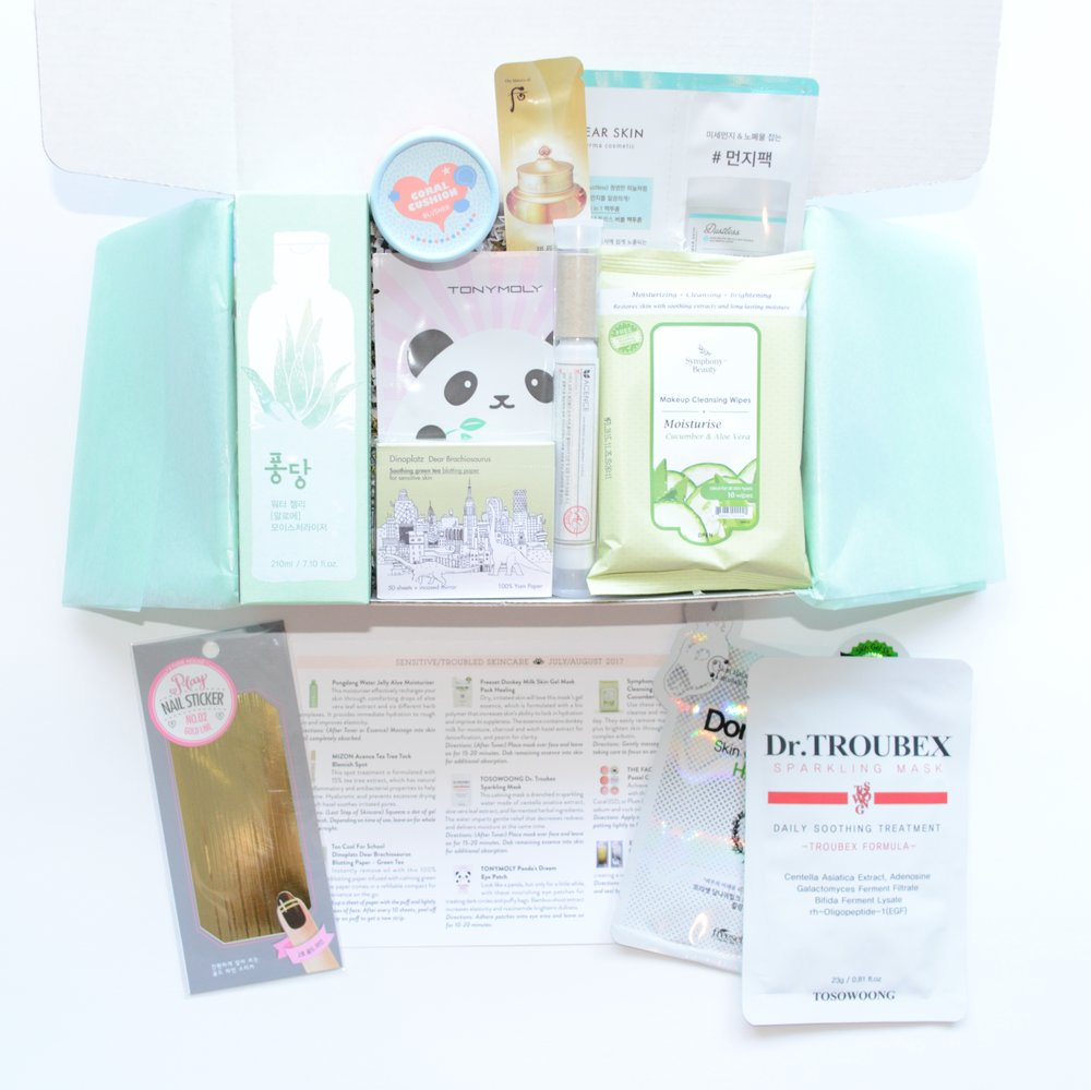 Jini Beauty Box - July/August 2017 - Sensitive/Troubled Skin