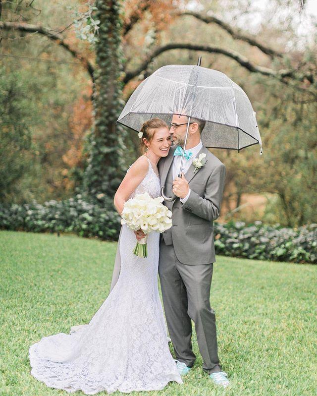 A little (or a lot) of rain was not gonna stop these two! Cheers Bob + Ashley! #amiragrayweddings #temeculaweddingphotographer #sandiegoweddingphotographer #secludedgardenestates