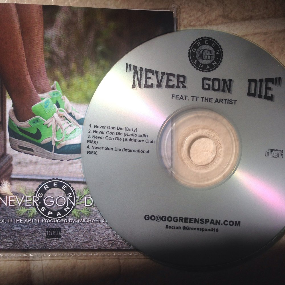 "Single by Greenspan, ""Never Gon Die"" available now @AppleMusic. Album slated for release on October 14."