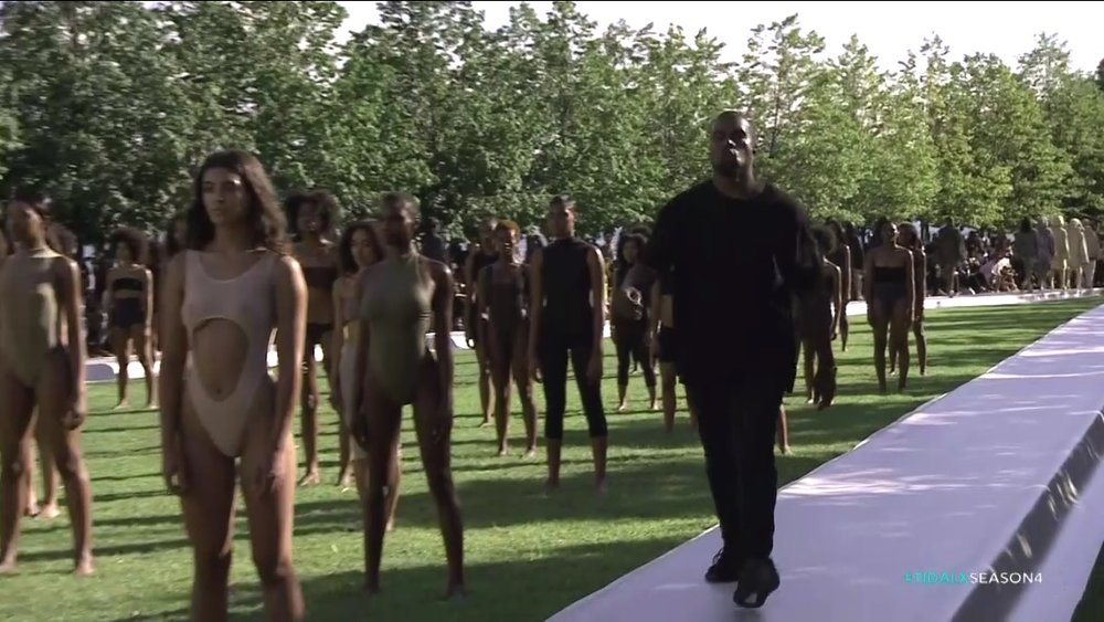 Kanye West at the Yeezy Season 4 Fashion Show #TIDALXSEASON4