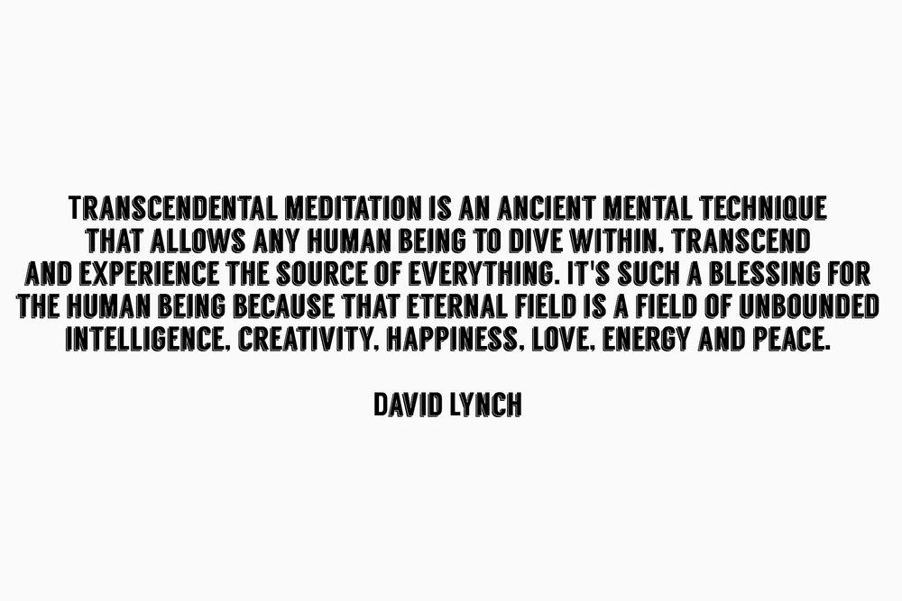 David Lynch on Meditation