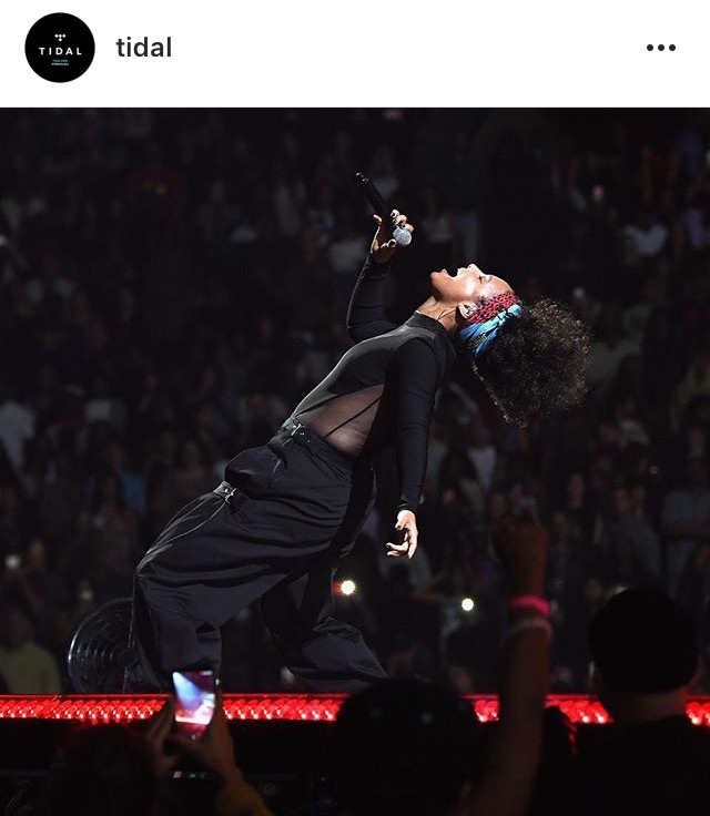 Alicia Keys Tidalx1015 image via  Instagram