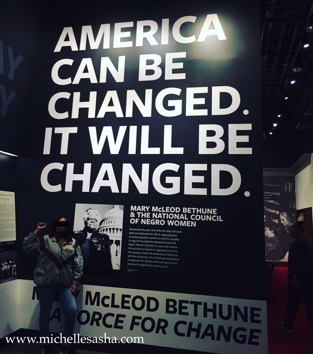 As seen at the National Museum of African America History and Cukture, Washington, DC