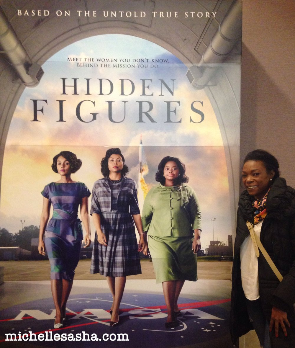 Michelle at the Hidden Figures Private Screening in Washington, DC