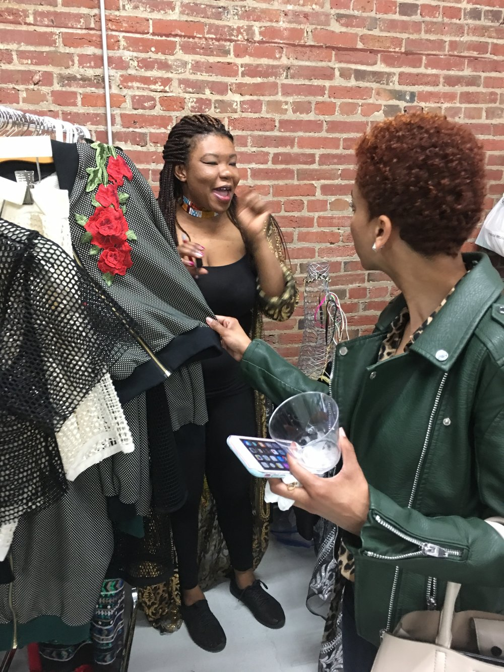 gorgeous hand made fashions at the Femme Fetale DC Pop Up