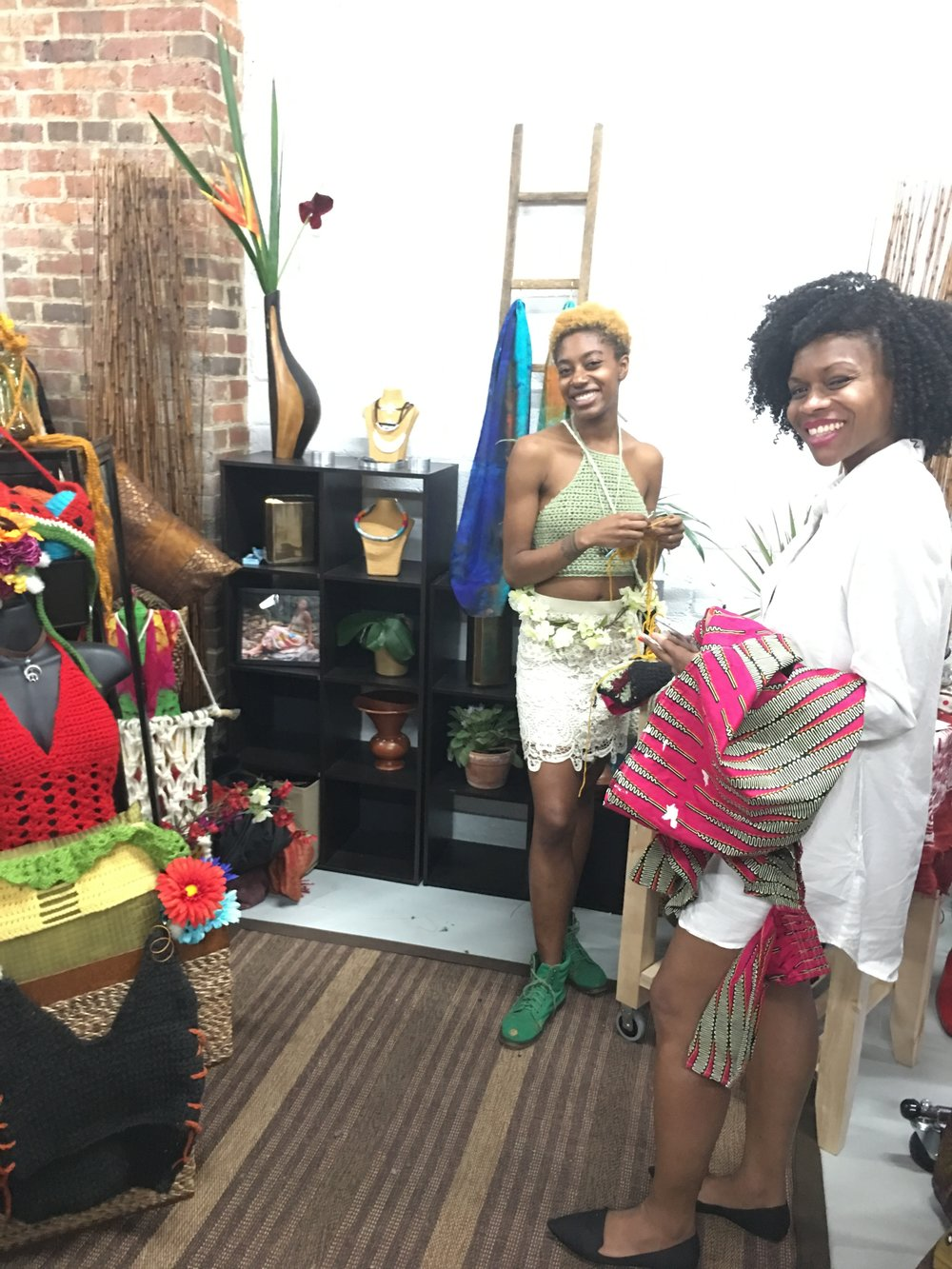 hand crochet styles at the Femme Fetale DC Pop Up