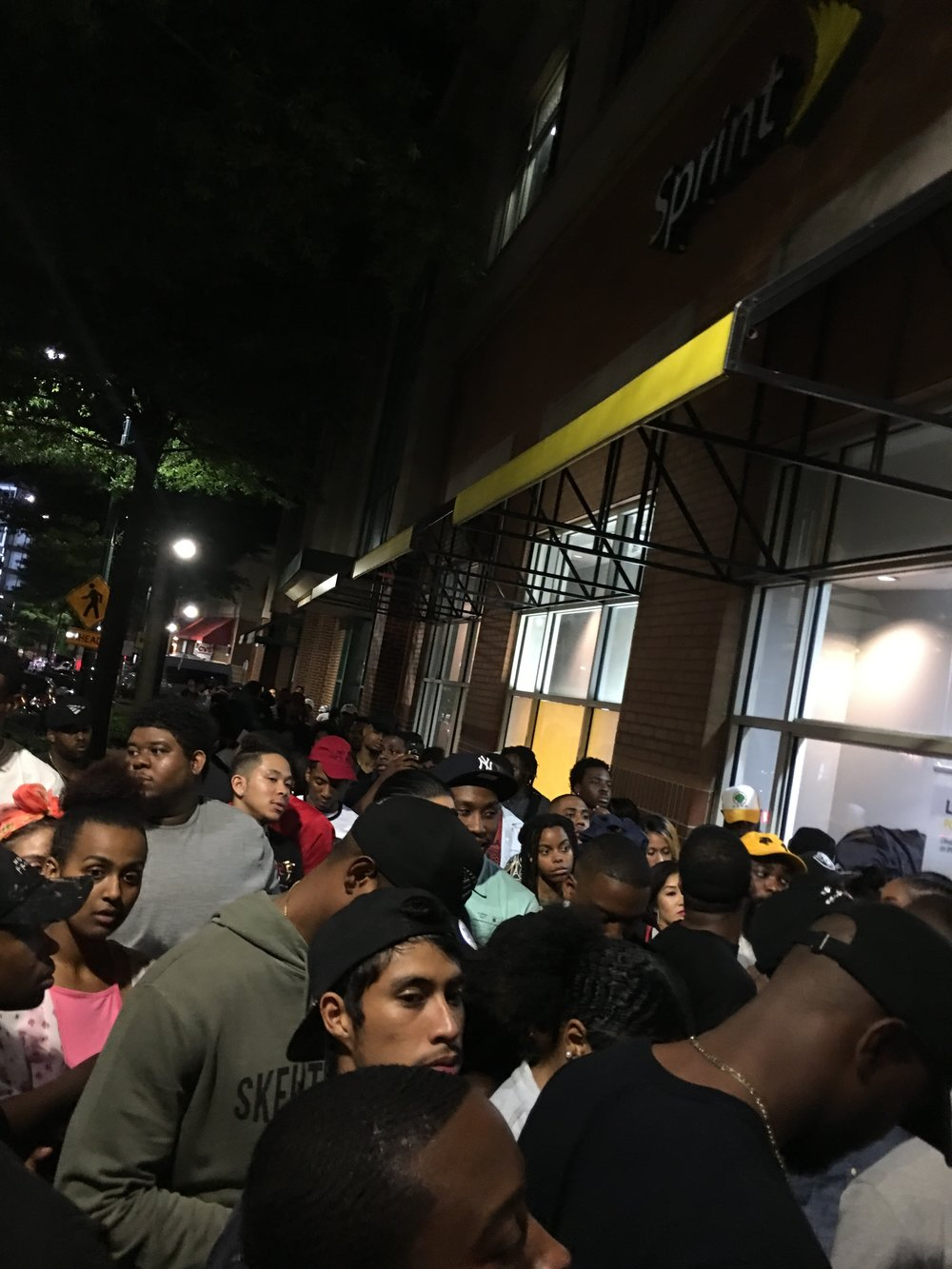 people trying to get into the  4:44  listening party in DC