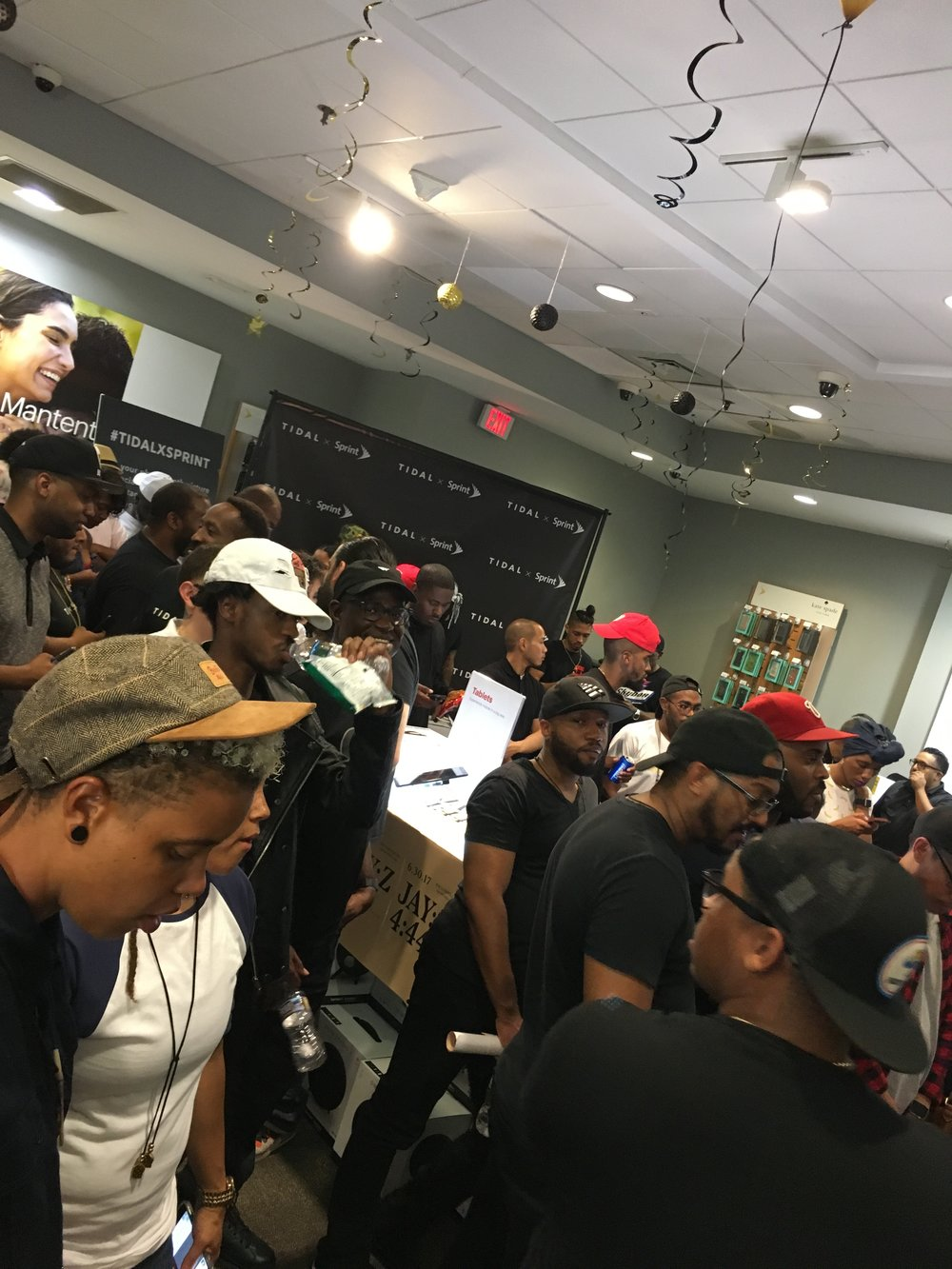 inside the  4:44  listening party in Washington, DC