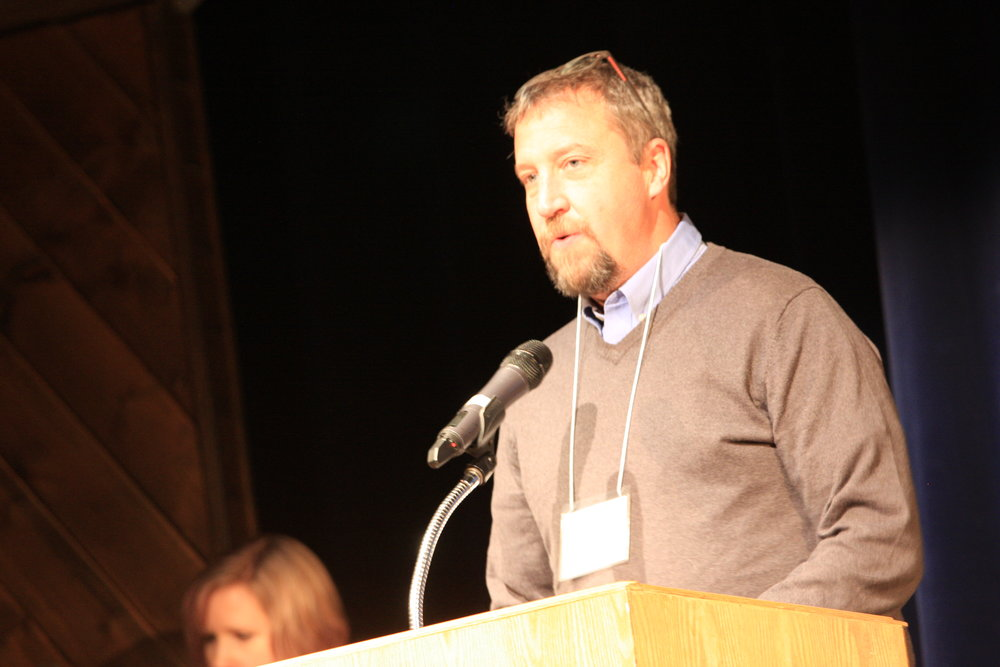 Cal Clark, Manager of Sustainability at Riversdale Resources, speaks at the 2016 Mountain Symposium