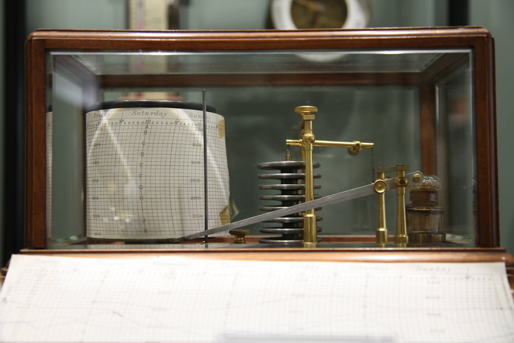 Aneroid Barometer Showing Chart Paper. Photo Courtesy of Campbell Scientific (Canada) Corp.