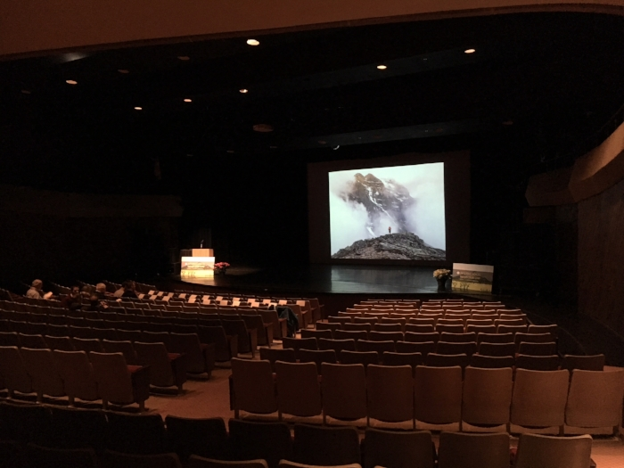 The Myer Horowitz Theatre prior to Wade Davis' presentation