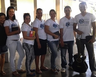 A student team project outreach to a nursing home.