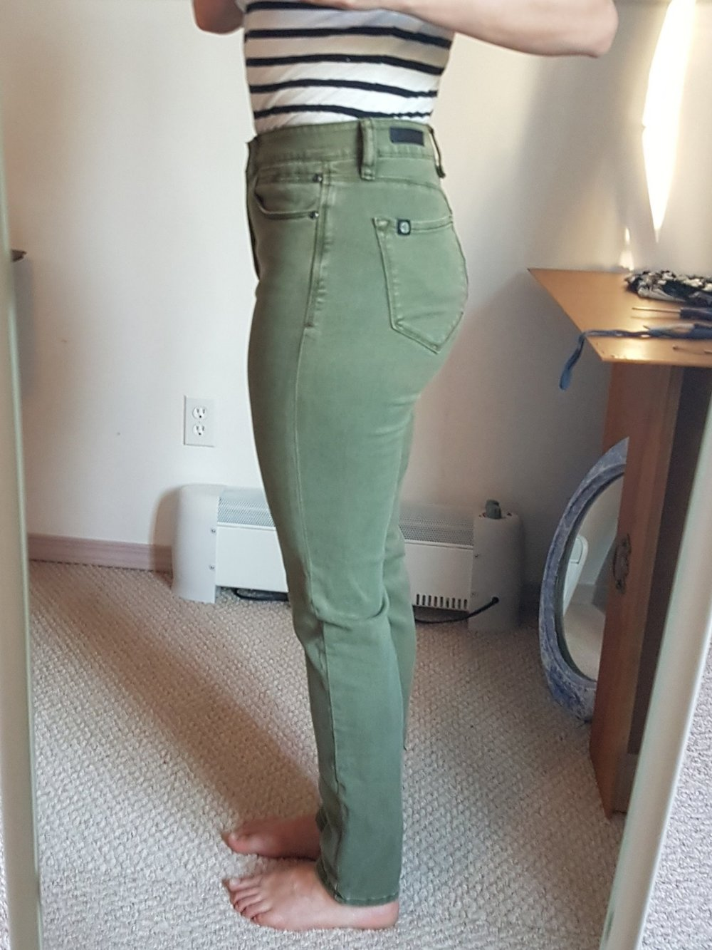 Et voilà! Jeans that fit! I ended up taking 2 inches off the waistband and back in total.