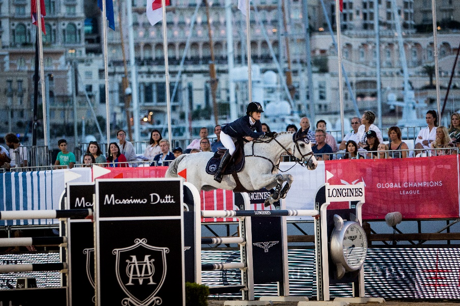 Jenn riding Pumped Up Kicks - Monaco