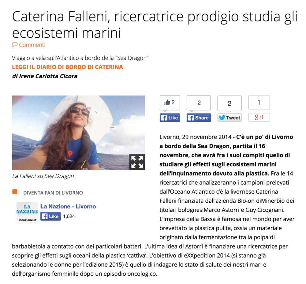 La Nazione 11/29/2014