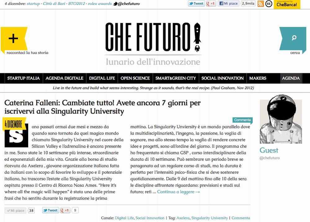 Che Futuro 12/4/2013