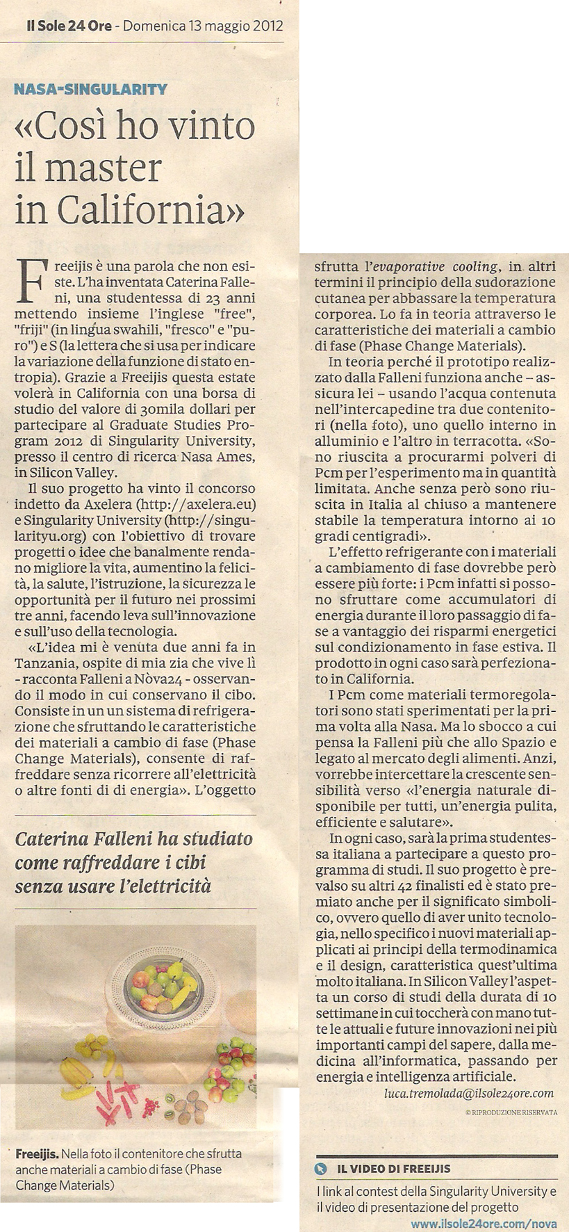 Sole24Ore 5/13/2013