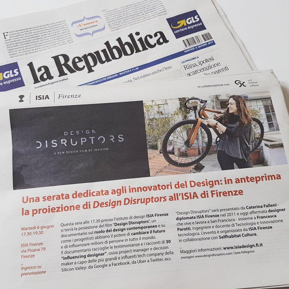 La Repubblica 5/06/2017