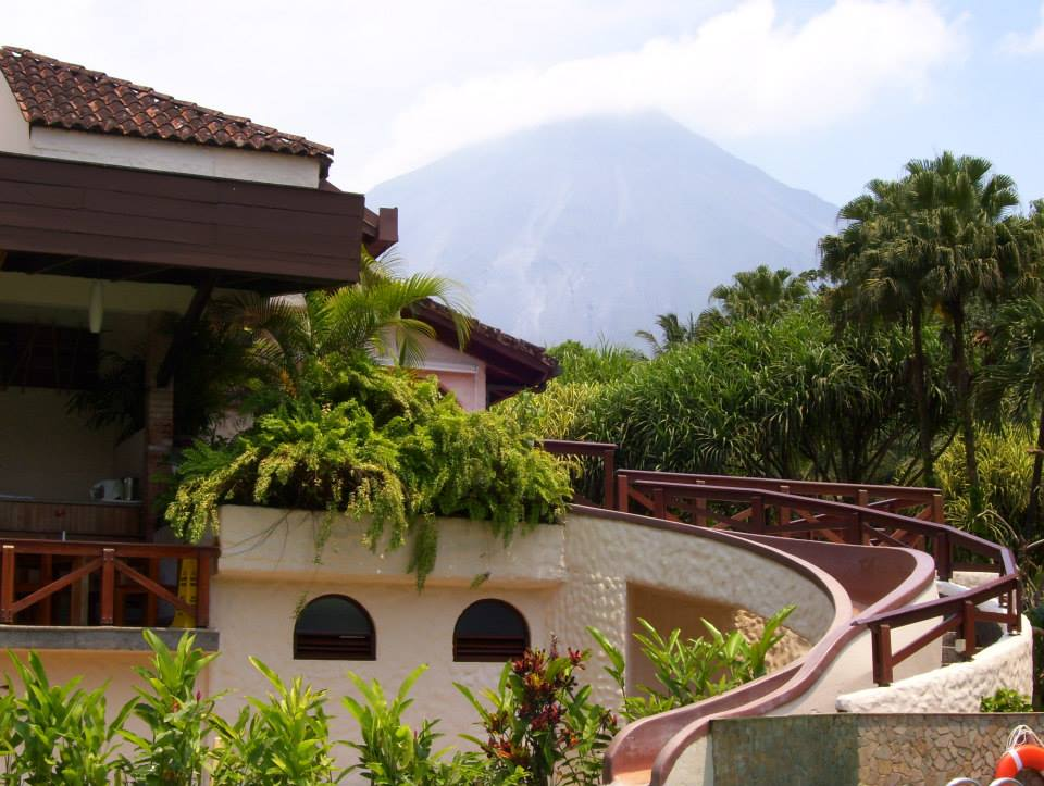 Tabacon Grand Spa Thermal Resort - Arenal Volcano in the background