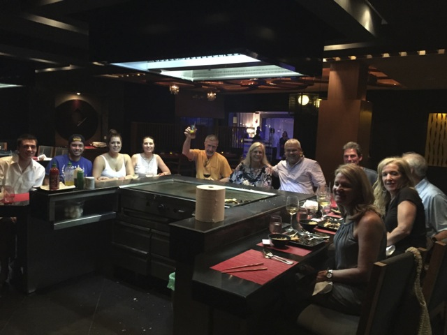 First night group dinner at Mizu