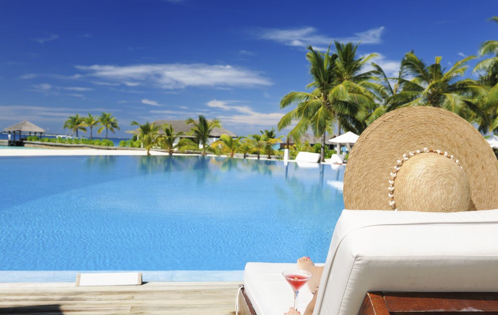 All-inclusive honeymoon poolside