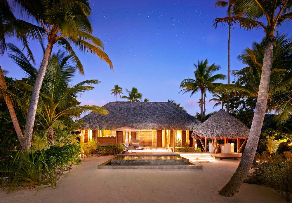One- bedroom villa twilight