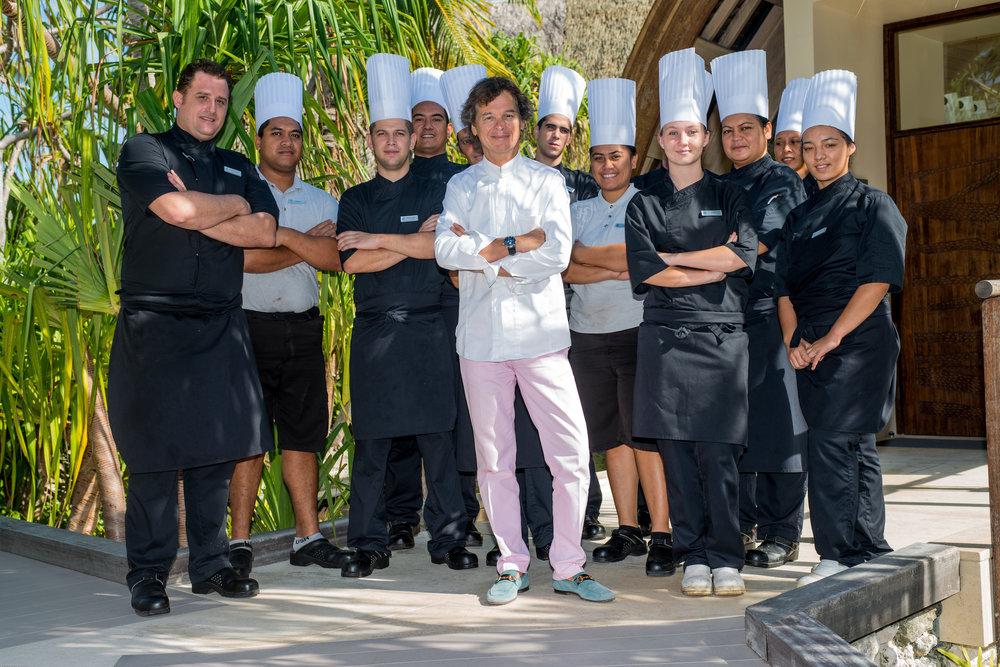 Chef Guy Martin and his Brando crew