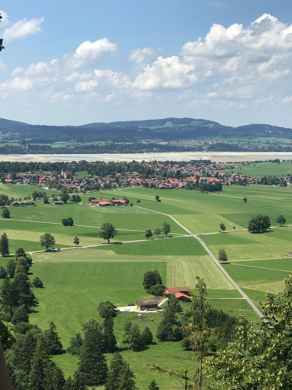 Countryside below Neuschwanstein