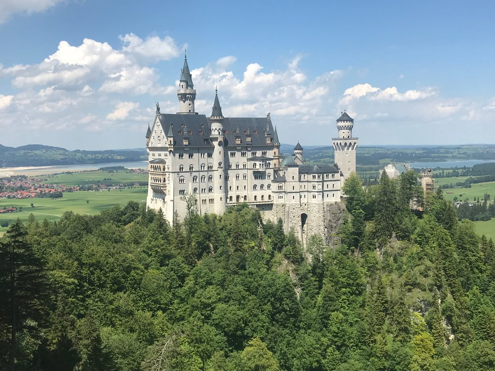 My photo of Neuschwanstein from Marienbrucke
