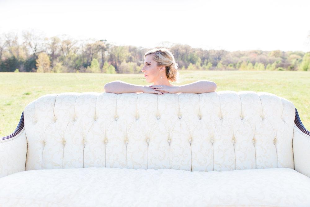 vintage sofa bride