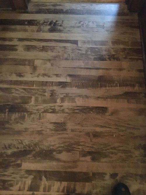 Heres An Example Of A Dark Stained Maple Floor