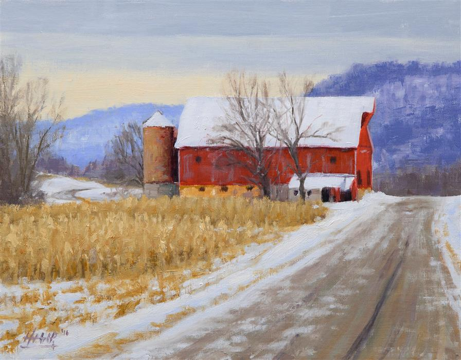 "Mulcahey's Barn (11"" x 14"")   by Nathan Hager, oil painting"