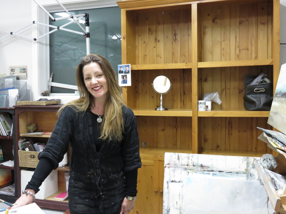 Canadian artist  Jenn Williamson  in her studio