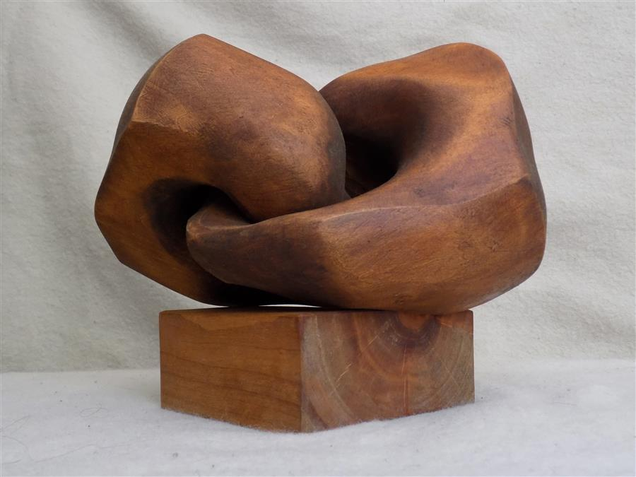 "Links  (9.8"" x 11.8"")  by Ivan Markovic, wood sculpture"